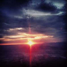 Sunset from the helicopter