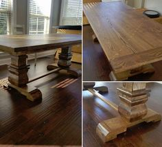 Custom Wood Classic Dining Table Furniture By Brad Greater - Nashville dining table