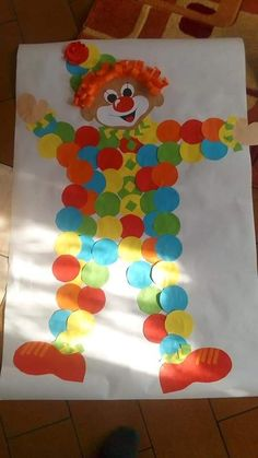 Palyaco pano Palyaco pano - Fasching im Kindergarten - Weihnachten Clown Crafts, Circus Crafts, Carnival Crafts, Circus Activities, Fun Activities For Kids, Diy And Crafts, Arts And Crafts, Paper Crafts, Winter Crafts For Kids