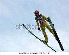 SOCHI, RUSSIA - DECEMBER 9: FIS Ski Jumping World Cup in Sochi on December, 9, 2012. Jump Danny Queck.
