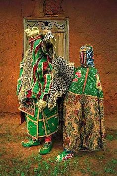 Sensational masquerade costumes of the Yoruba in West Africa. Portraits by Leonce Raphael Agbodjélou