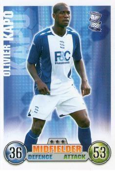 2007-08 Topps Premier League Match Attax #43 Olivier Kapo Front