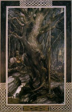 The Mabinogion, translated by Gwyn Jones ans Thomas Jones, illustrated by Alan Lee, Dragon's Dream ed, Hendrik-Ido-Ambacht, Netherlands, 1982
