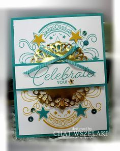 Me, My Stamps and I: Birthday Blast, Metallic Foil Doilies, Bermuda Bay stitched ribbon, Bermuda Bay sequin trim and Metallic Enamel Shapes Birthday Cards For Men, Handmade Birthday Cards, Birthday Blast, Screen Cards, Hanukkah Cards, Hand Made Greeting Cards, Ppr, Stamping Up Cards, Congratulations Card