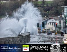 Bit rough along Les Banques this morning. #LoveGuernsey  http://chrisgeorgephotography.dphoto.com/#/album/cbc2cr/photo/20871812  Picture Ref: 04_01_14 — in Guernsey.
