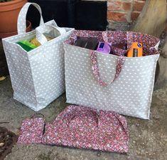 Shopping Bag Pattern in 3 Sizes PDF Grocery Shopping and | Etsy Easy Sewing Patterns, Bag Patterns To Sew, Sewing Ideas, Bags Sewing, Handbag Patterns, Sewing Art, Pattern Sewing, Clothes Patterns, Bag Pattern Free