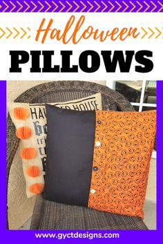 couch pillows 452611831298715262 - Step by step tutorial on how to make fall pillow covers for your patio pillows, couch pillows or as decorations for your favorite fall projects. Includes links for free Cricut cut files. Source by alandacraft Halloween Subway Art, Spooky Halloween Crafts, Halloween Sewing, Fall Sewing, Halloween Pillows, Halloween Projects, Halloween Stuff, Patio Pillows, Fall Pillows