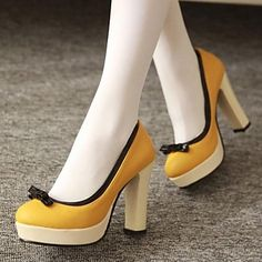 Women's Shoes Round Toe Chunky Heel Pumps Shoes More Colors available – USD $ 37.99