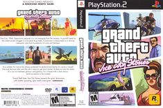 Playstation 2, Game Presents, Rockstar Games, Grand Theft Auto, Drugs, Crime, Video Games, Cover, Autocad