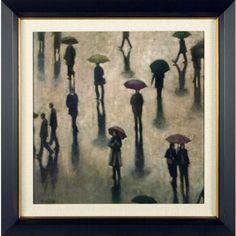 Phoenix Galleries In the Rain Framed Print - CT7112-C