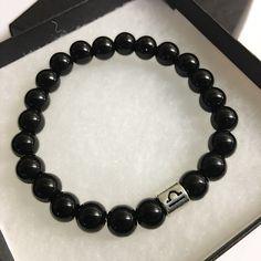 Libra Bracelet Black Obsidian Bead