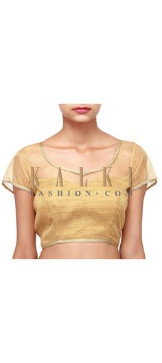 Buy Online from the link below. We ship worldwide (Free Shipping over US$100). Product SKU - 302485. Product Link - http://www.kalkifashion.com/gold-blouse-adorn-in-lace-only-on-kalki.html