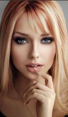 Beauté Blonde, Blonde Beauty, Hair Beauty, Most Beautiful Eyes, Stunning Eyes, Girl Face, Woman Face, Looks Pinterest, Belle Silhouette