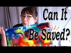Can You Pour Over an Ugly Painting? Floetrol Craft Paint Lots of Tiny Cells - YouTube