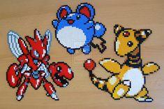 Pokemon+sprite+bead+3+by+Chiki012.deviantart.com+on+@deviantART Pyssla Pokemon, Hama Beads Pokemon, Pokemon Craft, Pony Bead Patterns, Hama Beads Patterns, Beading Patterns, Pixel Beads, Fuse Beads, Pearler Beads