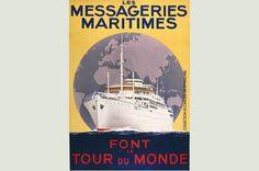 Messageries Maritimes Destiny, Tours, Image, Iron, Graphic Design, Travel