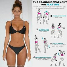 """3,475 curtidas, 36 comentários - Lucy J.Smiths (@gym.wear.today) no Instagram: """"The standing workout for flat abs! ❤️ . ➖➖➖➖➖➖➖➖➖➖ All rights and Credits reserved to owner…"""""""