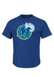 Majestic Dallas Mens Blue Post Up Tee