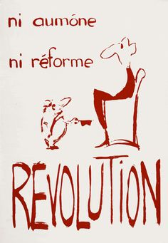 Affiches mai 68 Revolution Poster, Tv Lighting, Protest Posters, Jack Kerouac, Power To The People, Rage, Slogan, Messages, Thoughts