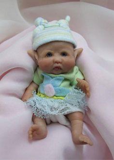 Polymer Clay Fairy Dolls   ... Sculpted Baby Leprechaun Fairy Polymer Clay Art Doll POS Eable   eBay