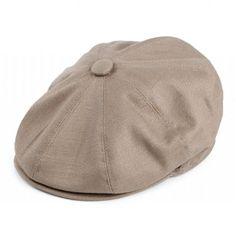 Sixpence+/+Flat+cap+-+Jaxon+Hats+Cotton+Newsboy+Cap+(beige)