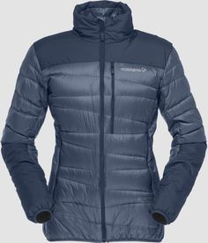 Norrøna - Women's Falketind Jacket - Down jacket ➽ Free delivery from 50 € - Buy online now! Indigo, Mountaineering Boots, Cycling Gloves, Sports Shops, Delena, Classic Leather, Summer Days, Leather Boots, Black And Grey