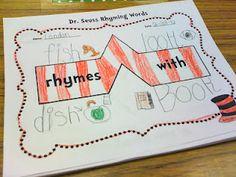 Once Upon a First Grade Adventure: Seuss Rhyming Words Bridge Map-Freebie