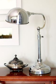 We love this chic metal lamp from HG. Only $30!
