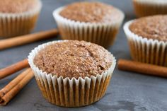 Flaxseed Cinnamon Bun Muffins (use c swerve for sweetener) 163 calories, gm protein, carbs, gm fiber, 12 gm fat Zucchini Muffins, Muffins Blueberry, Flaxseed Muffins, Cinnamon Muffins, Fluff Desserts, Low Carb Desserts, Keto Muffin Recipe, Muffin Recipes, Ground Flax Seed Recipe