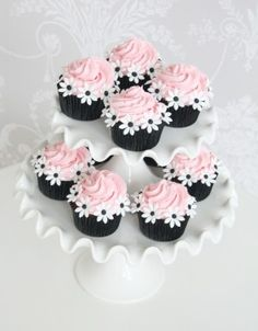 Pink swirl chocolate cupcakes - The Cake Parlour