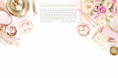 Perfect white space for a promotional image or hero/headline shot for an informational page. Flat Lay Photography, Lifestyle Photography, Product Photography, E Commerce, Notes Design, Flatlay Styling, Girly, Pink Fashion, Belle Photo