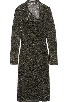 TOPSHOP UNIQUE Rosalind leopard-print silk-georgette dress. #topshopunique #cloth #dresses