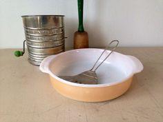 Vintage FireKing Anchor Hocking peach lusterware by KimBuilt, $10.00