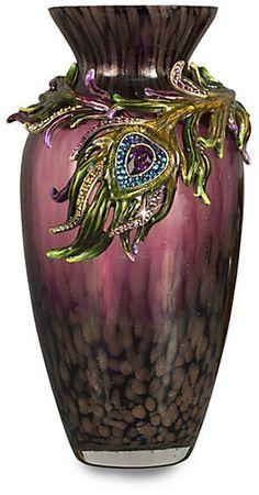 Alina Peacock Feather Vase