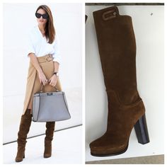 LONGCHAMP knee high limited edition boots Sz 10 LONGCHAMP knee high limited edition boots Sz 10 new without box store display size 40 AUTHENTIC Longchamp Shoes
