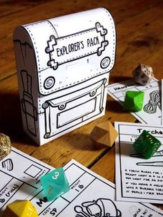 Inventory card box dnd crafts dd dungeons and dragons