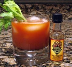 Bloody Mariana cocktail is an excellent mixed drink with vodka,oregano,Worcestershire sauce and Tabasco sauce.