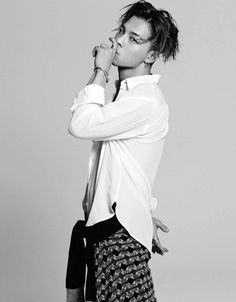 messy hair x white shirt :: Tae Yang of Big Bang for Grazia Korea, June 2015