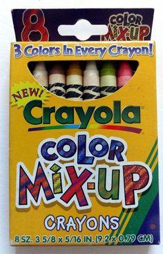 Discontinued LE Crayola Crayons - 'COLOR MIX-UP ' #Crayola