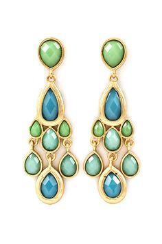 Soft Willow Chandelier Earrings on Emma Stine Limited
