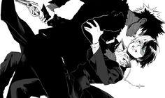 Boku no Hero Academia || Characters: Dabi, Todoroki Shouto.