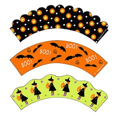 Halloween Cupcake Wrappers -Printables- #halloween #cupcakes #kids | Ziggity Zoom