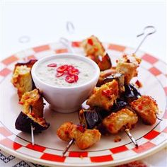 Cheap and tasty turkey and aubergine skewers!