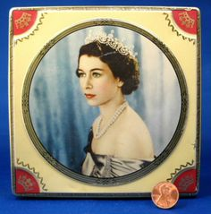 Queen Elizabeth II Coronation Tea Tin Chocolate Box 1953 Thornes
