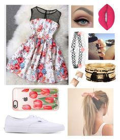 """In Spring!!!!!"" by elliethemunchkin on Polyvore featuring beauty, Vans, Lime Crime, Accessorize, Forever 21 and Casetify"