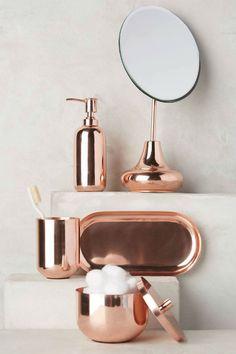 objetos cobre banheiro