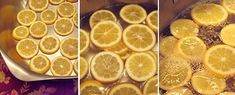 Meyer lemon slices ready for boiling in water before candying Candied Lemon Slices, Candied Lemons, Creme Cupcake, Boil Lemons, Meyer Lemon Tree, Candy Recipes, Drink Recipes, Yummy Recipes, For Love And Lemons