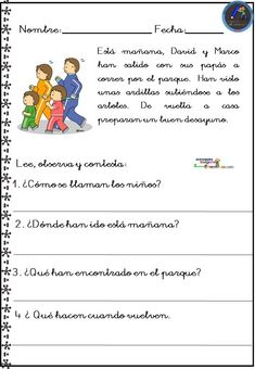 Spanish Lessons For Kids, Spanish Lesson Plans, Spanish Class, Learning Spanish, 1st Grade Reading Worksheets, Speech Therapy, Classroom, Teaching, How To Plan