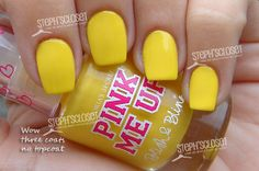 PINK Me Up Polish: Bright Sunny Yellow Creme
