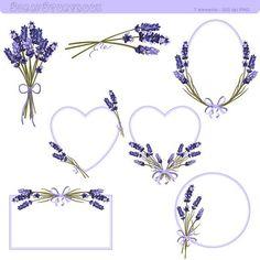 Cadre de fleur de lavande et des cliparts par Scrapstorybook Plus